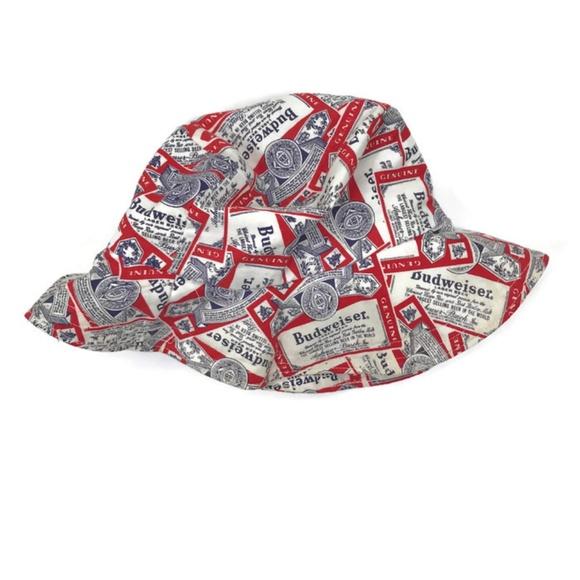 Budweiser Other - Vintage Budweiser Bucket Hat Fishing Hat Canvas 047fa7079fb